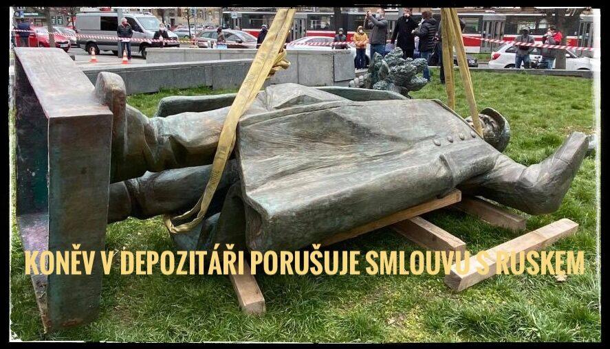 Uložením vojenského pomníku maršála Koněva do depozitáře porušila Česká republika mezinárodní smlouvu a Praha 6 usnesení svého zastupitelstva