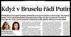 Když v Bruselu řádí Putin